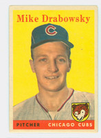 1958 Topps Baseball 135 Mike Drabowsky Chicago Cubs Very Good to Excellent