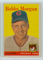 1958 Topps Baseball 144 Bobby Morgan Chicago Cubs Excellent