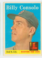 1958 Topps Baseball 148 Billy Consolo Boston Red Sox Good to Very Good