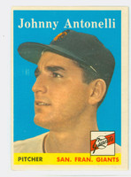 1958 Topps Baseball 152 Johnny Antonelli San Francisco Giants Excellent to Mint
