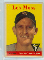 1958 Topps Baseball 153 Les Moss Chicago White Sox Excellent to Mint