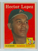 1958 Topps Baseball 155 Hector Lopez Kansas City Athletics Excellent to Mint