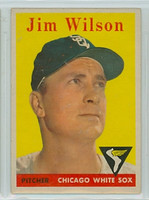 1958 Topps Baseball 163 Jim Wilson Chicago White Sox Excellent
