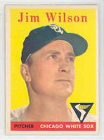 1958 Topps Baseball 163 Jim Wilson Chicago White Sox Excellent to Mint