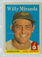 1958 Topps Baseball 179 Willy Miranda Baltimore Orioles Near-Mint