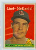 1958 Topps Baseball 180 Lindy McDaniel St. Louis Cardinals Excellent to Mint
