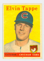 1958 Topps Baseball 184 Elvin Tappe Chicago Cubs Excellent to Mint
