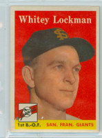 1958 Topps Baseball 195 Whitey Lockman San Francisco Giants Near-Mint