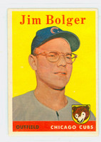 1958 Topps Baseball 201 Jim Bolger Chicago Cubs Excellent to Mint
