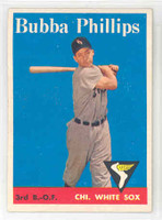 1958 Topps Baseball 212 Bubba Phillips Chicago White Sox Excellent to Mint