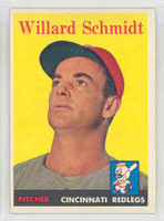 1958 Topps Baseball 214 Willard Schmidt Cincinnati Reds Excellent to Mint