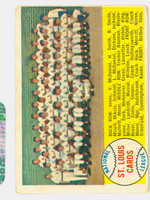 1958 Topps Baseball 216 Cardinals Team Good to Very Good