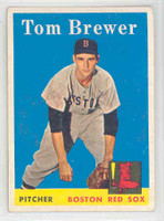 1958 Topps Baseball 220 Tom Brewer Boston Red Sox Excellent to Mint