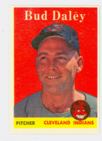 1958 Topps Baseball 222 Bud Daley Cleveland Indians Excellent to Mint