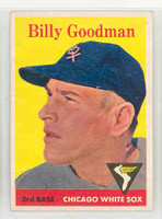 1958 Topps Baseball 225 Billy Goodman Chicago White Sox Excellent to Mint