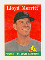 1958 Topps Baseball 231 Lloyd Merritt St. Louis Cardinals Excellent to Excellent Plus
