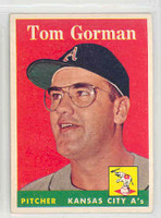 1958 Topps Baseball 235 Tom Gorman Kansas City Athletics Excellent to Mint