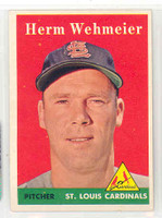 1958 Topps Baseball 248 Herm Wehmeier St. Louis Cardinals Excellent to Mint