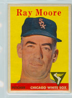 1958 Topps Baseball 249 Ray Moore Chicago White Sox Excellent to Excellent Plus