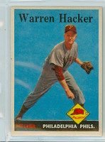 1958 Topps Baseball 251 Warren Hacker Philadelphia Phillies Excellent to Mint