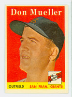 1958 Topps Baseball 253 Don Mueller San Francisco Giants Excellent to Mint