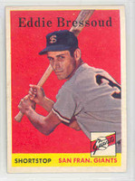 1958 Topps Baseball 263 Eddie Bressoud San Francisco Giants Excellent to Mint