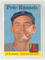 1958 Topps Baseball 265 Pete Runnels Boston Red Sox Excellent to Mint