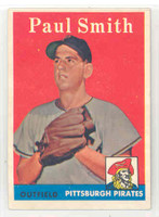 1958 Topps Baseball 269 Paul Smith Pittsburgh Pirates Excellent to Mint