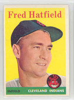 1958 Topps Baseball 339 Fred Hatfield Cleveland Indians Excellent to Mint