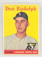 1958 Topps Baseball 347 Don Rudolph Chicago White Sox Excellent to Mint