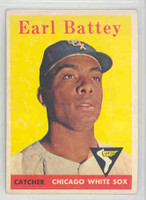 1958 Topps Baseball 364 Earl Battey Chicago White Sox Excellent to Mint