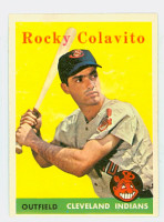 1958 Topps Baseball 368 Rocky Colavito Cleveland Indians Excellent to Mint