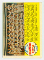 1958 Topps Baseball 377 Braves Team ALPHA  Good to Very Good