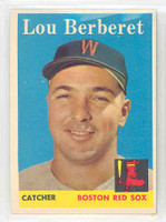 1958 Topps Baseball 383 Lou Berberet Boston Red Sox Excellent to Mint