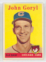 1958 Topps Baseball 384 John Goryl Chicago Cubs Excellent to Mint