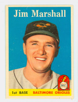 1958 Topps Baseball 441 Jim Marshall Baltimore Orioles Excellent to Mint