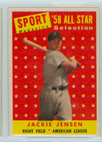 1958 Topps Baseball 489 Jackie Jensen AS Boston Red Sox Excellent to Excellent Plus