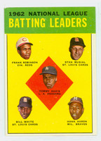 1963 Topps Baseball 1 NL Batting Leaders Excellent