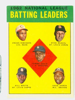 1963 Topps Baseball 1 NL Batting Leaders Excellent to Excellent Plus
