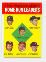 1963 Topps Baseball 4 AL HR Leaders Excellent to Mint