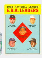 1963 Topps Baseball 5 NL ERA Leaders Excellent to Mint