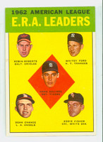 1963 Topps Baseball 6 AL ERA Leaders Very Good to Excellent