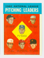 1963 Topps Baseball 7 NL Pitching Leaders Excellent to Excellent Plus