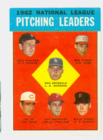 1963 Topps Baseball 7 NL Pitching Leaders Excellent to Mint