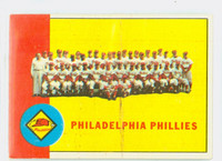 1963 Topps Baseball 13 Phillies Team Fair to Poor