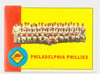 1963 Topps Baseball 13 Phillies Team Good to Very Good