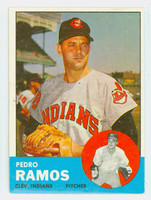 1963 Topps Baseball 14 Pedro Ramos Cleveland Indians Excellent