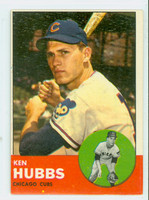 1963 Topps Baseball 15 Ken Hubbs Chicago Cubs Very Good to Excellent