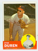 1963 Topps Baseball 17 Ryne Duren Los Angeles Angels Excellent