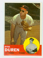 1963 Topps Baseball 17 Ryne Duren Los Angeles Angels Excellent to Mint